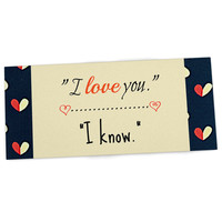 "Robin Dickinson ""I Know"" Navy Blue Desk Mat"
