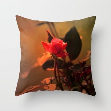 The Golden Hour Throw Pillow by Theresa Campbell D'August Art