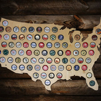 Best Beer Cap Maps Products On Wanelo - Us beer cap map