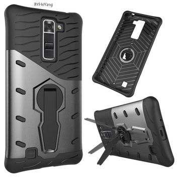 """BYHeYang Case For Coque LG K7 with 360 Degree Rotate Armor Kickstand Case for LG K7 X210 X210DS MS330 Protection Phone Case 5.0"""""""