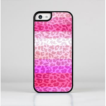 The Hot Pink Striped Cheetah Print Skin-Sert Case for the Apple iPhone 5c
