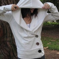 3 button Sweatshirt by MeandD on Etsy