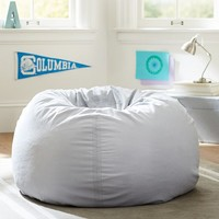Light Gray Washed Twill Beanbag
