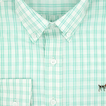 The Hadley Shirt in Emerald Checkerboard by Southern Point Co.