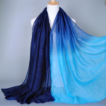 Voile Cotton Speckled Scarf , Shawl & Poncho