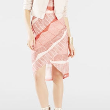 Mikela Wrapped Shirred Skirt Dress - Pink
