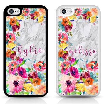 PERSONALISED Marble Flower TPU RUBBER Shockproof cover case for iPhone Samsung | eBay