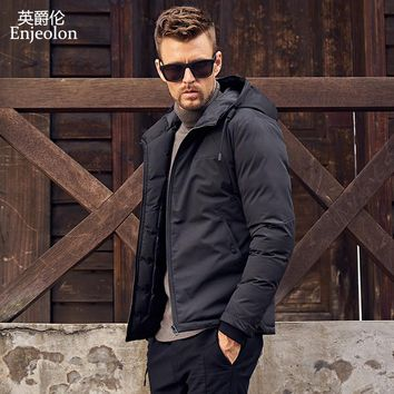 winter Cotton Padded Jacket hoodies coat Men Parka black coat Thick Quilted fashion Coat Men