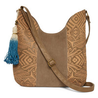 T-Shirt and Jeans™ Laser-Cut Hobo Bag - JCPenney