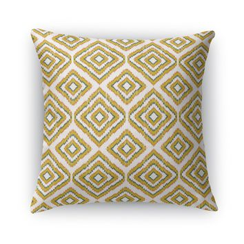SUMATRA MUSTARD YELLOW Accent Pillow By Becky Bailey