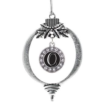 My Script Initials - Letter O Circle Charm Holiday Ornament