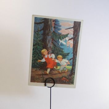 Postcard Illustration for Russian Folk Tale by RussianSoulVintage