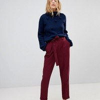 ASOS Woven Peg Pants with Obi Tie at asos.com