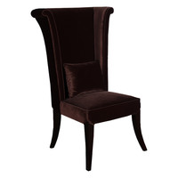 Mad Hatter Dining Chair In Brown Rich Velvet