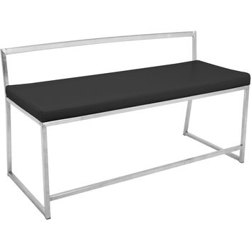 Fuji Contemporary Dining / Entryway Bench, Black