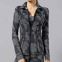 Lululemon Women Casual Zipper Gym Sports Cardigan Jacket Coat