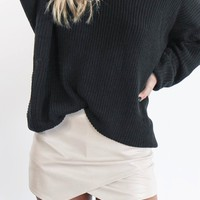 Night Life Tan Leather Envelope Skort