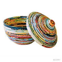 Gifts Under $30 - Recycled Paper Lidded Bowl | SERRV