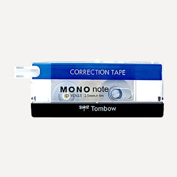 TOMBOW MONO Note Correction Tape, 2.5mm, Standard