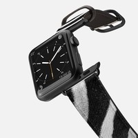 Casetify Apple Watch Band (38mm) Saffiano Leather Watch Band - Zebra Stripes by Christy Leigh