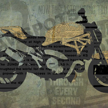 Ducati Monster 1200, Art Print 12x7.50in to 60x41in, Motorcycle Art print, big size print, large wall print, office decor