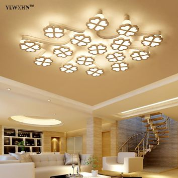 2018 Hot Sale Ce Abajur New Acrylic Modern Led Ceiling Lights For Living Room Bedroom Home December Lamp Gadget Electric Sh