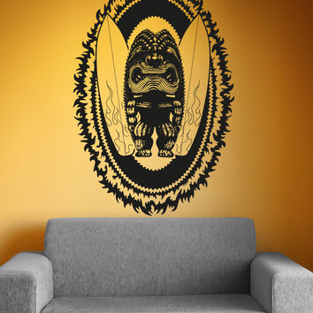 Vinyl Wall Decal Sticker Tiki Surf God #OS_AA1237