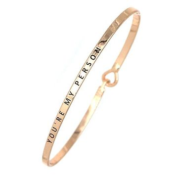 You're My Person  Simple Message Mantra Being Bangle
