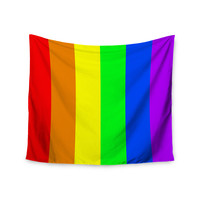 "Bruce Stanfield ""Rainbow"" Stripes Digital Wall Tapestry"