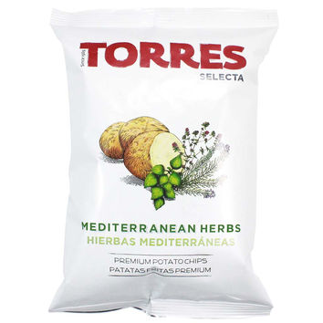 Large Pack Mediterranean Herb Potato Chips by Torres 5.29 oz