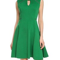 ACEVOG Women's Sleeveless A-line Lace Stitching Evening Party Cocktail Dress