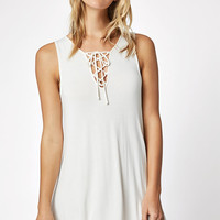 LA Hearts Tie Front Swing Dress at PacSun.com