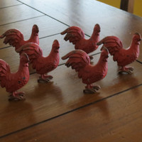 Rooster Knobs/ Red Rooster Drawer Knobs / Drawer Pulls/ Shabby Chic/ Rustic/ Cupboard Knobs/ Drawer Handles/ Farmhouse Decor