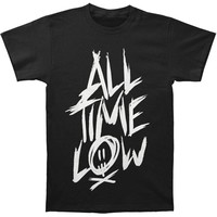 All Time Low Men's  Scratch Slim Fit T-shirt Black