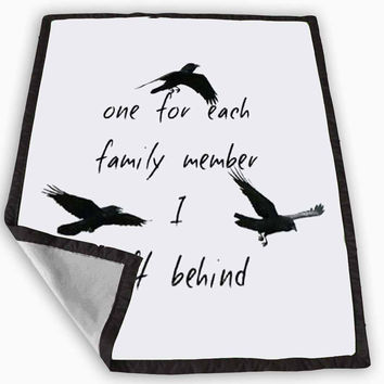Divergent Tris Tattoo Ravens Quote Blanket for Kids Blanket, Fleece Blanket Cute and Awesome Blanket for your bedding, Blanket fleece *