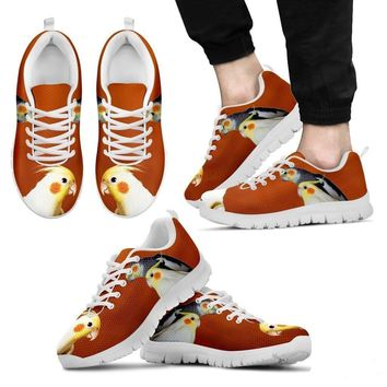 Cockatiel Parrot Print Running Shoes For Men-Free Shipping