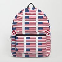 american flag 2-Usa,america,us,stars and strips, patriotic,patriot,united states,american,spangled Backpacks by oldking