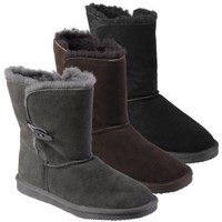 Pawz by Bearpaw Womens Shearling Lined Suede Leather Boot