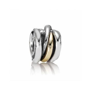 PANDORA Two-Tone Ring Cluster Charm