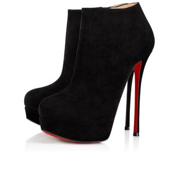 Dirdibootie 150 Black Suede - Women Shoes - Christian Louboutin