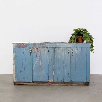 FREE SHIP vintage painter's cabinet / large cupboard