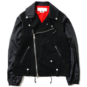 Polyester Cloth x Nylon Taffeta Riders Jacket