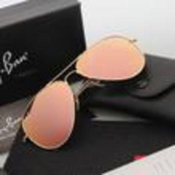 ESBON Ray Ban Aviator Sunglasses Yellow Flash/Gold Frame RB3025