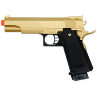 GOLD METAL SPRING AIRSOFT M 1911 A1 FULL SIZE PISTOL HAND GUN AIR w/ 6mm BBs BB