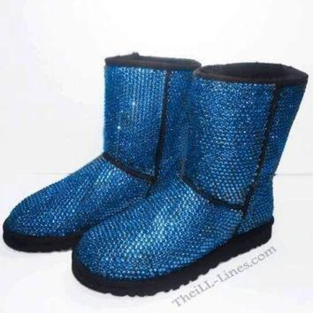 DCCK8X2 Custom Classic Tall UGG Boots made with Swarovski Crystals
