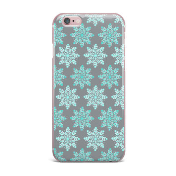 "Anchobee ""Blue Christmas"" Blue Gray iPhone Case"