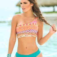One Shoulder Strappy Back Bikini
