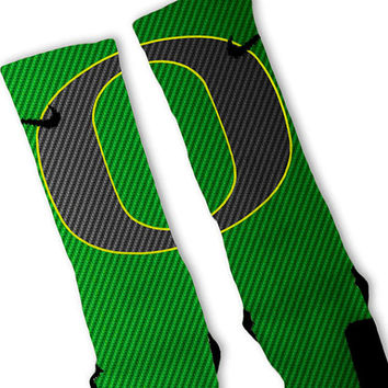 Oregon Ducks Custom Nike Elite Socks Fast Shipping!! Nike Elite Socks Customized