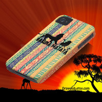 IPhone5 IPhone4 IPhone4S Case - lion king hakuna matata draw all-round case Make to order