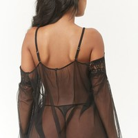 Sheer Mesh Lingerie Set